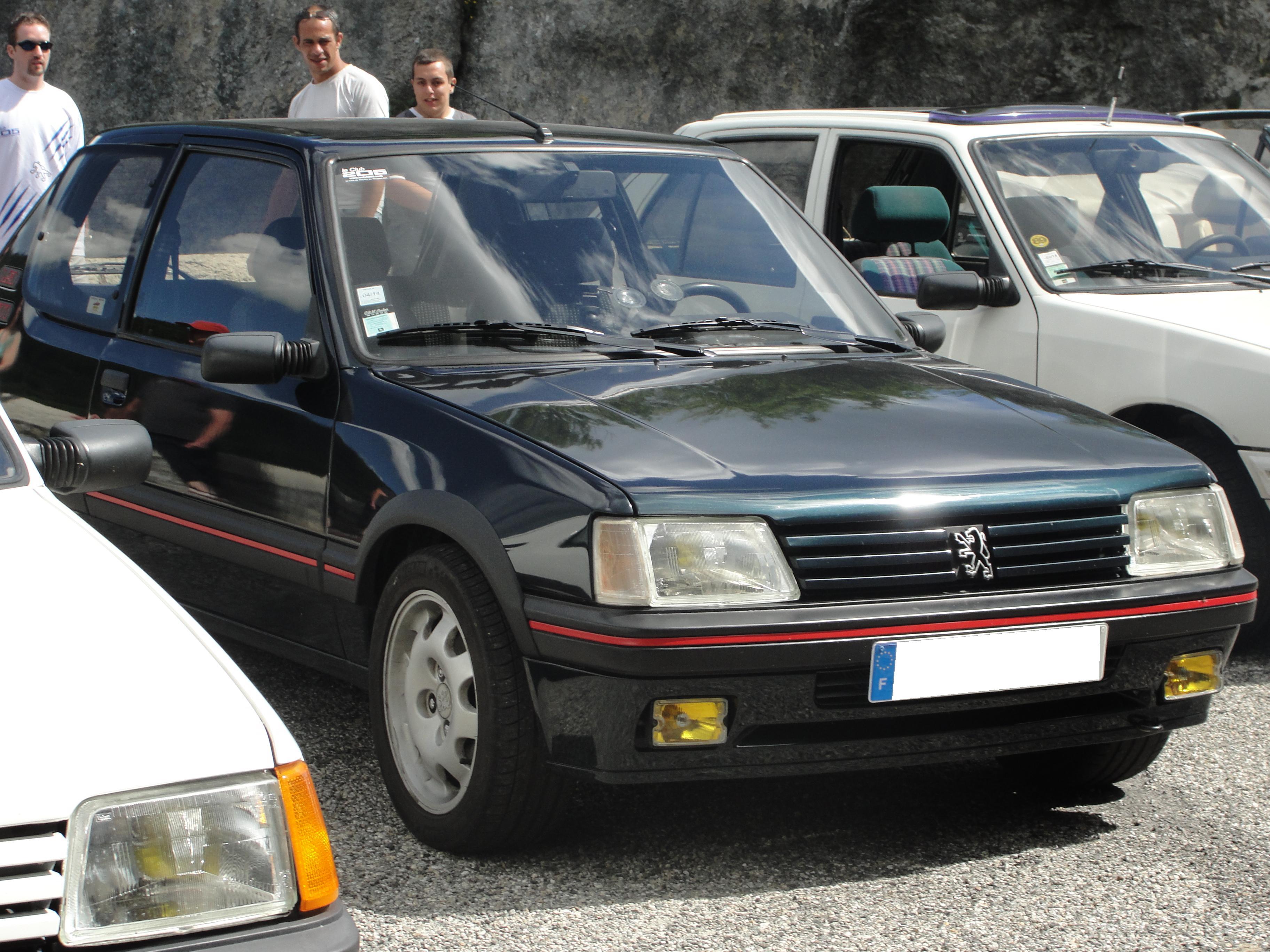 205 GTI (1.9i XU9JA de 130 ch) de 1989