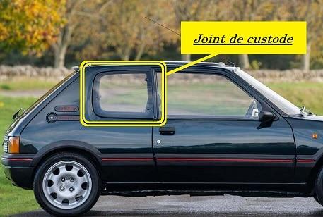 Joint de custode Peugeot 205