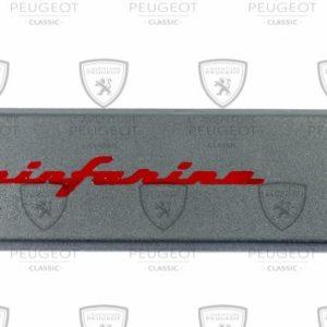 Enjoliveur de custode droite 205 Cabriolet lettrage rouge