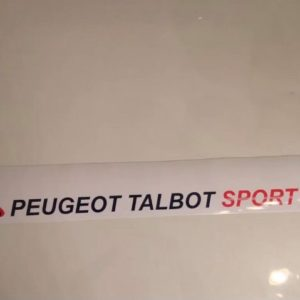 Pare soleil 205 Peugeot sport Blanc (Port inclus)